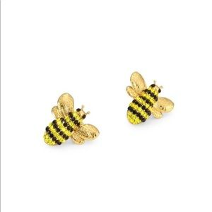 kate spade Jewelry - KATE SPADE • Pave Bee Stud Earrings